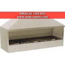 Davlumbazlı Kömürlü Izgara 120x50x105 cm